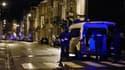 Des policiers à Verviers le 15 janvier 2015, après le démantèlement d'une cellule jihadiste, une opération qui a fait deux morts.
