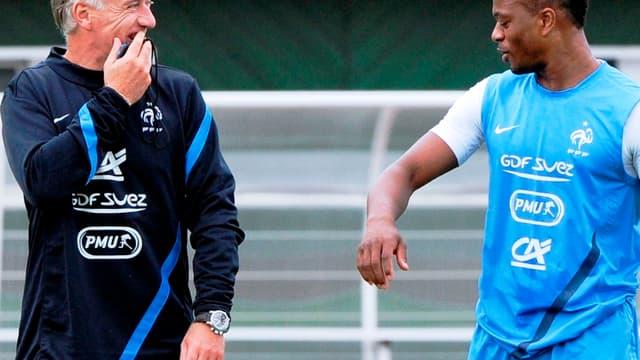 Didier Deschamps avec Patrice Evra