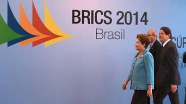La présidente Brésilienne Dilma Roussef arrive au 6ème sommet des BRICS à Fortaleza.
