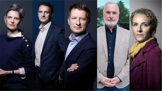 Sandrine Rousseau, Eric Piolle, Yannick Jadot, Jean-Marc Governatori et Delphine Batho.