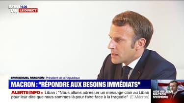 Aide apportée au Liban: Emmanuel Macron détaille les besoins des Libanais