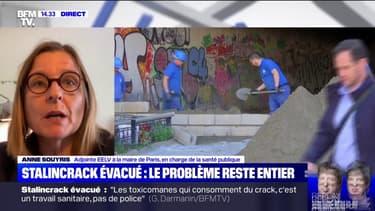 """Anne Souyris (mairie de Paris) sur l'évacuation des toxicomanes: """"On ne met pas des gens dans des cars pour les parquer à 128 dans un parc"""""""
