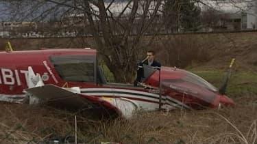L'avion de tourisme qui s'est écrasé dans le quartier olympique d'Albertville le 25 février 2014