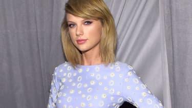 Taylor Swift à l'occasion du gala post-Grammy, à Los Angeles.