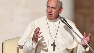 Le pape François prend la parole lors de l'audience hebdomadaire au  Vatican, le 16 octobre 2019