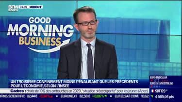 Julien Pouget, chef du département de la conjoncture à l'Insee, était l'invité ce vendredi matin de Good Morning Business sur BFM Business.