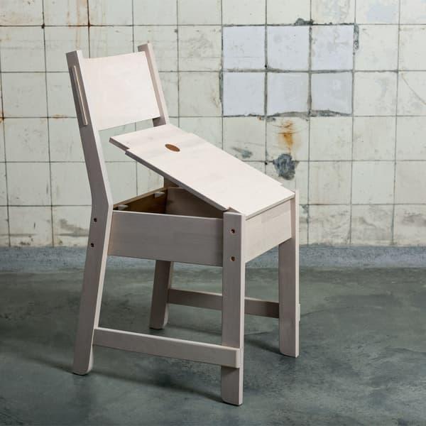 La chaise qui vous empêche de vous asseoir si vous avez été trop sédentaire dans la journée.