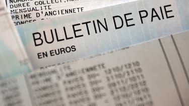 Un bulletin de paie (image dillustration)
