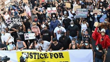 Manifestation à New York contre les violences policières, le 4 juin 2020