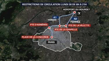 Les conditions de circulation lundi de 6h à 21h en Île-de-France.