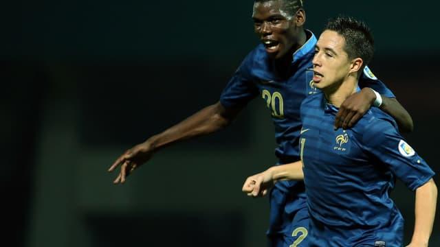 Paul Pogba avec Samir Nasri