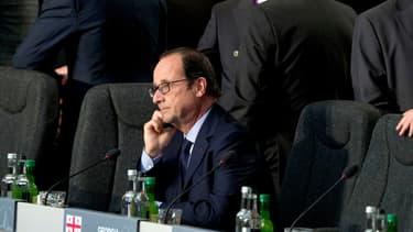 François Hollande au sommet de l'Otan, au Pays de Galles, jeudi.
