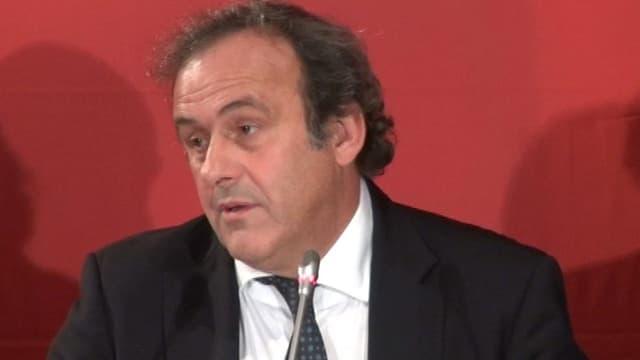 Michel Platini, actuel président de l'UEFA.