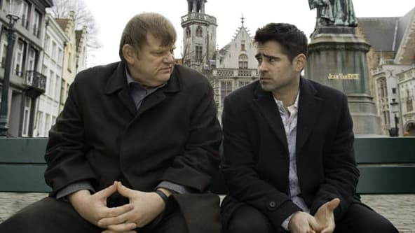 Brendan Gleeson et Colin Farrell dans Bons baisers de Bruges (2008)