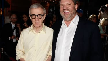 Woody Allen et Harvey Weinstein en 2008.