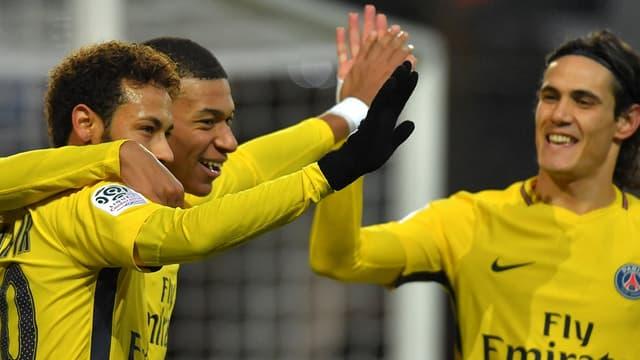 Neymar, Mbappé et Cavani