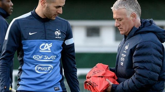 Karim Benzema et Didier Deschamps