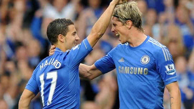 Eden Hazard et Fernando Torres