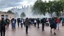 Les forces de l'ordre ont fait usage de gaz lacrymogènes, samedi 7 août 2021, lors de la manifestation anti-pass sanitaire à Lyon