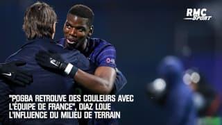 """""""Pogba retrouve des couleurs avec l'équipe de France"""", Diaz loue l'influence du milieu de terrain"""
