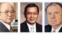 Le prix Nobel de chimie 2010 a été attribué mercredi à l'Américain Richard Heck (à droite) et aux deux Japonais Akira Suzuki (à gauche) et Ei-ichi Negishi pour des travaux sur la synthèse organique qui pourraient avoir des implications dans la lutte contr