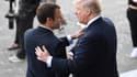 Emmanuel Macron et Donald Trump le 14 juillet 2017