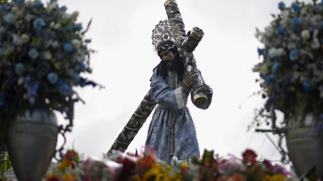 Une sculpture de Jésus transportée au Guatemala le 27 mars 2018. Photo d'illustration