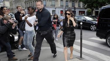 Pascal Duvier et Kim Kardashian à Paris en mai 2014.
