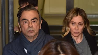 Carlos Ghosn et son épouse, Carole