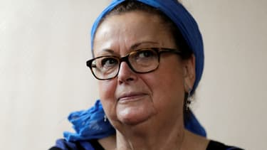 Christine Boutin annonce la fin de sa carrière politique lors d'une conférence de presse au siège du Parti chrétien démocrate à Rambouillet, le 21 octobre 2017