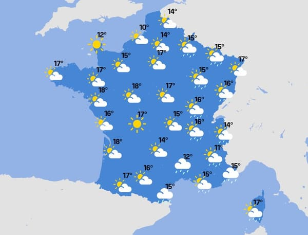 La météo du mercredi 21 avril.