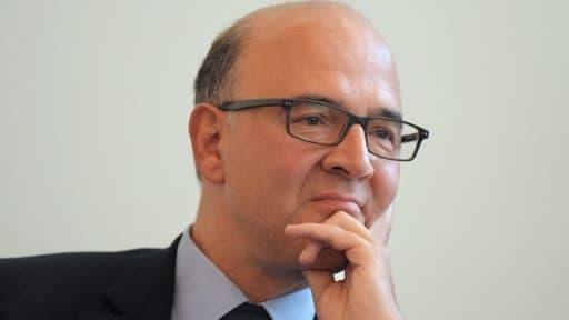 """Pierre Moscovici estime être en """"total accord"""" avec Jean-Marc Ayrault."""
