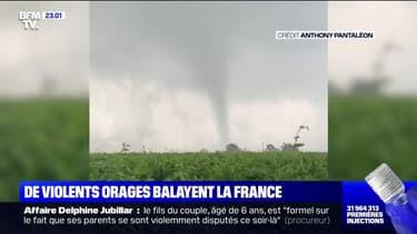 Intempéries: de violent orages ont balayé la France, le toit d'une église en Indre-et-Loire en partie arraché par une tornade