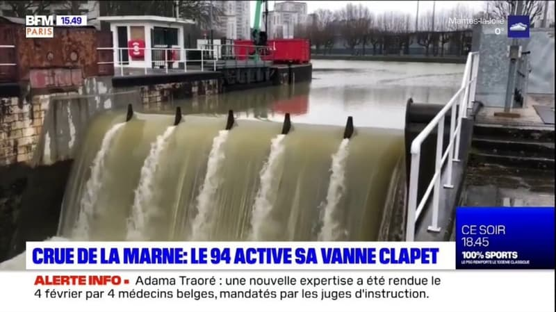 Crue de la Marne: 20 ans après, le Val-de-Marne active sa vanne clapet