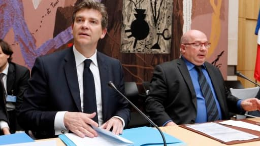 Arnaud Montebourg, lors de son audition par la commission des Affaires économiques de l'Assemblée, ce mardi 20 mai.