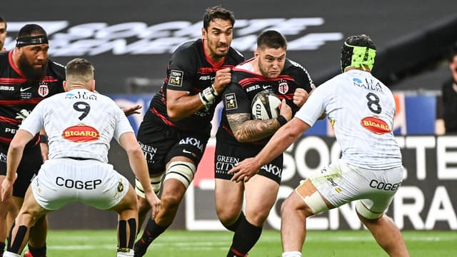 Cyril Baille lors de la finale de Top 14 Toulouse-La Rochelle