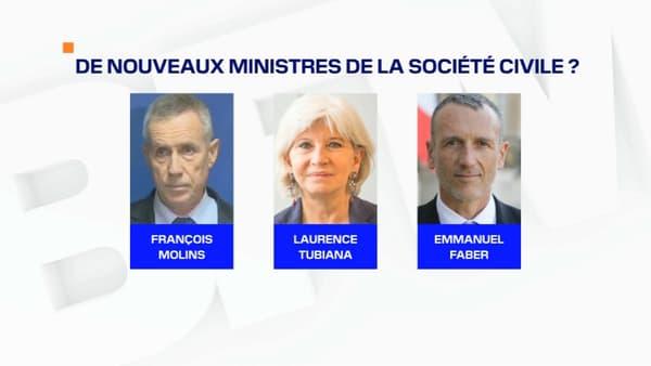 Les acteurs de la société civile susceptibles d'entrer au gouvernement lors du remaniement prévu début juillet 2020.