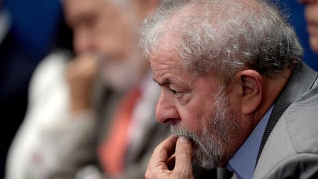 L'ancien président Luiz Inacio Lula da Silva, dit Lula, le 29 août 2016 à Brasilia.