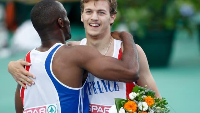 Christophe Lemaitre et Martial Mbandjock seront alignés en finale du 4x100m dimanche