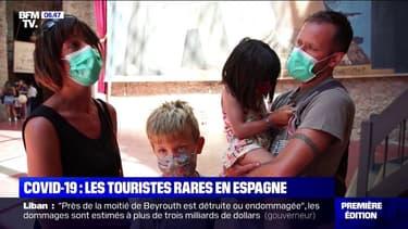 Les touristes sont rares en Catalogne à cause du coronavirus