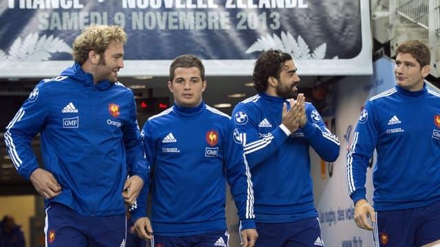 Antonie Claassen, Brice Dulin, Yoann Huget et Pascal Papé défient les All Blacks