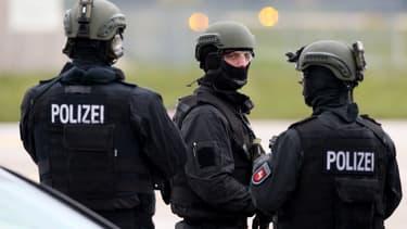Des policiers allemands. (photo d'illustration)