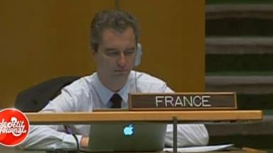 David Martinon à la tribune française des Nations unies à New York, mercredi 26 septembre.
