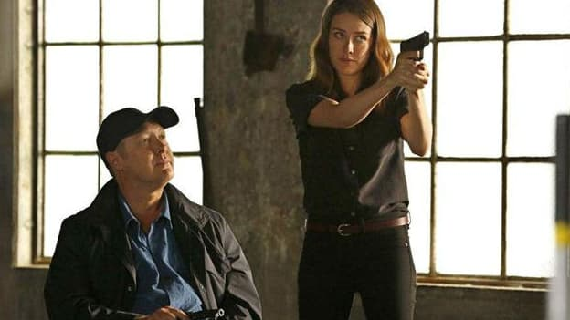 """Megan Boon et James Spader dans la série """"Blacklist"""""""