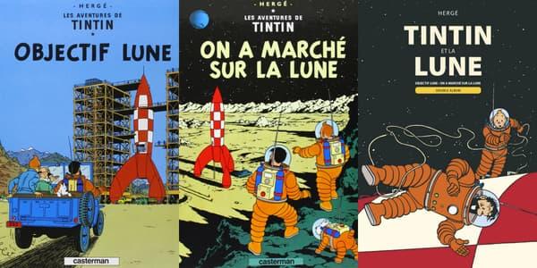 Tintin dans la lune par Hergé
