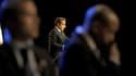 """Nicolas Sarkozy estime dans une interview à paraître jeudi dans l'hebdomadaire Paris-Match que la dynamique de la campagne pour l'élection présidentielle est désormais en sa faveur et il promet, s'il est réélu, d'être un """"président différent"""". /Photo pris"""