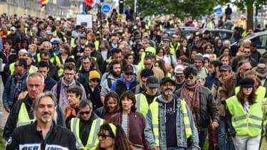 25ème samedi de manifestation des gilets jaunes à Bordeaux, le 4 mai 2019.