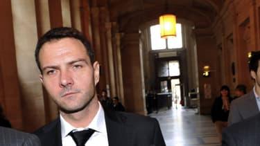L'ancien trader de la Société Générale Jérôme Kerviel au palais de justice de Paris
