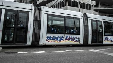 Un tramway à Lyon.