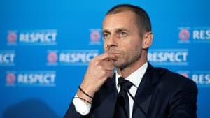 Le président de l'UEFA Aleksander Ceferin, le 19 avril 2021 à Montreux